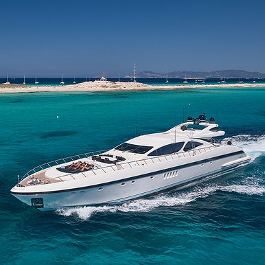 MANGUSTA 130 of Lizard Boats in Ibiza